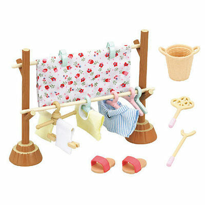 Sylvanian Families Jp Calico Critters Accessory Outdoor Clothes Lines Set