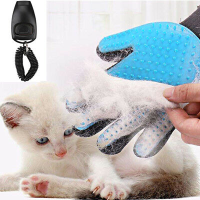 Pet Bath Grooming Cleaning Brush Glove Deshedding Dog Cat Massage Hair Removal