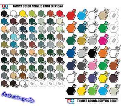 Tamiya Color X1 To X35 Gloss & XF1 To XF86 Acrylic Paint Model Kit Authentic New