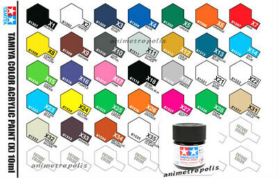 Tamiya Color 81501-81535 X-1 to X-35 Gloss Acrylic Model Kit Paint 10ml 田宮 タミヤ