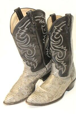 a12bc0ed4b7 TONY LAMA MENS 11 EE Leather Snakeskin Pointed Toe Cowboy Boots 8870