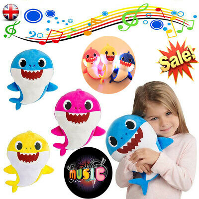 Music Baby Shark Singing Plush Toys Music Song Doll English Creative Gift Toy UK