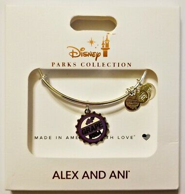 Disney Parks ALEX & ANI bracelet UP Grape Soda silver tone - NEW