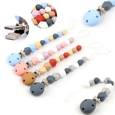 Food Grade Silicone Pacifier Chain Clip for Baby Teether Teething Toy Soother