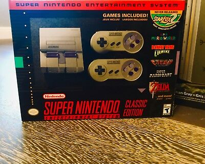 Super Nintendo Entertainment System: Super NES Classic Edition SNES MINI Bnew😊
