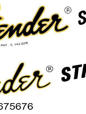 Two 70s Style Waterslide Headstock Decals