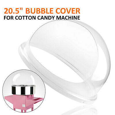 "New Cotton Candy Machine Pink Floss Maker Party 20.5"" Bubble Shield Cover Clear"