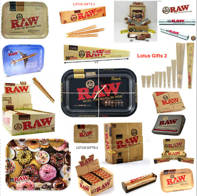 RAW Classic Black King Size Slim Rolling Papers - UK Stock TRAY ROLLING BOX GIFT