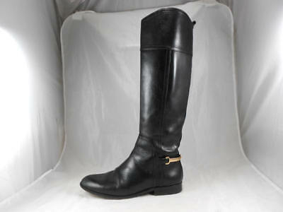 effead5ab5f Elegant Used  525 TORY BURCH Jess Golden Spur Riding Boots Black Women s 6  ...