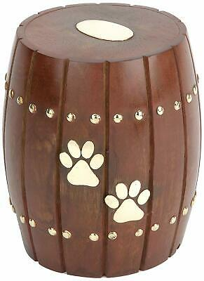 Urns UK Wooden Pet Cremation Urn For Ashes, Andover - Ex Display Item