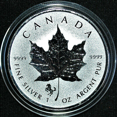 2014 Canada 1 oz. Silver Maple Leaf with Horse privy mark