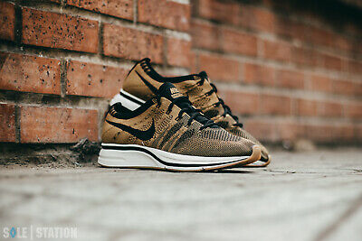 e9d0a58328a66 Nike Flyknit Trainer Golden Beige Black Brown AH8396-203 Men s Shoes Size 11
