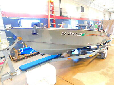 15' Lakeland 1578 50HP Mariner w/ Miscellaneous Trailer  T1280814