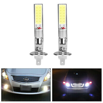 2x H1 Xenon White 6000K 20W COB LED SMD Driving Fog Beam Head Lights Bulbs DRL