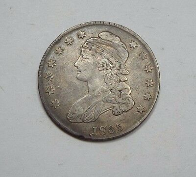 1835 Capped Bust/Lettered Edge Half Dollar FINE Silver 50-Cents