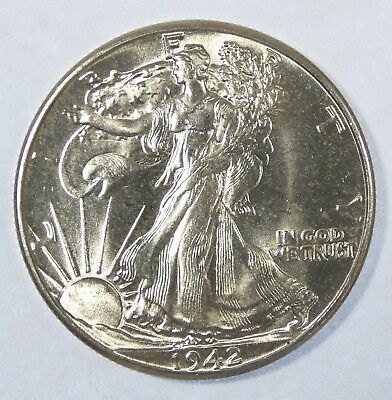 1942 Walking Liberty Half Dollar Choice BRILLIANT UNCIRCULATED Silver 50c