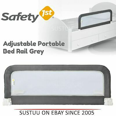 Safety 1st Adjustable Portable Bed Rail│Kid's Cot Side Barrier Protection│Grey│
