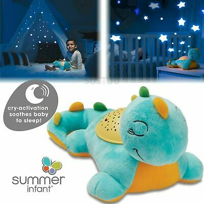 New Summer Infant Slumber Buddies Deluxe Dino Cry Activation Soothes Baby Sleep
