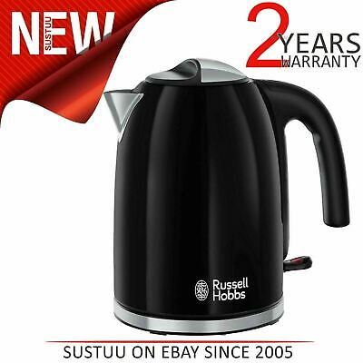 Russell Hobbs 20413 Colour Plus Kettle│70% Energy Saving│3000W│1.7L│360*| Black