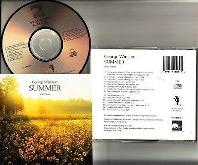 GEORGE WINSTON- Summer (Solo Piano Jazz) CD **JAPAN PRESS** Windham Hill 15 Trks