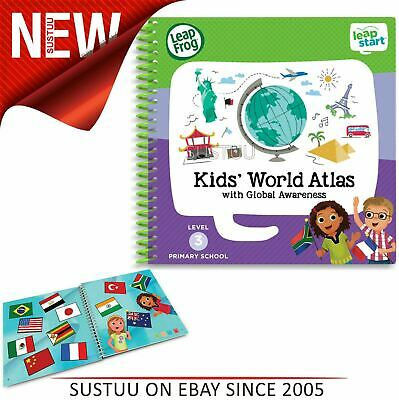 Leap Frog LeapStart Kids' World Atlas Activity Book│40+ ReplayableActivities│+3y
