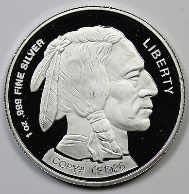 2004 Liberty Indian Head Buffalo Design .999 Fine Silver Round 1 oz