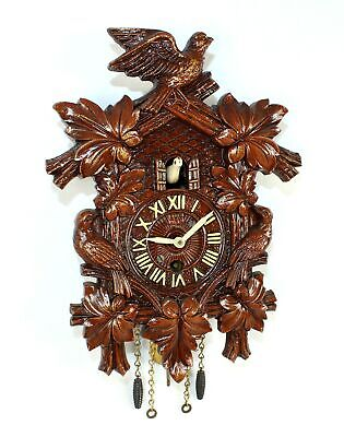 VINTAGE LUX NOVELTY CUCKOO CLOCK with WHITE BOBBING BIRD - TB64