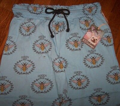 5647b2734d NWT PJ Salvage Sky Blue QUEEN BEE Jersey Knit Pajama Lounge Pants S Gray