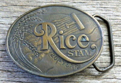 Rice Stam Farming Agriculture Koleaco 1980's Vintage Belt Buckle