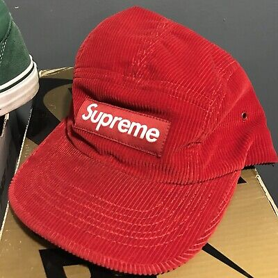 87acd799add BRAND NEW SUPREME Corduroy Camp Cap Box Logo Bred -  47.00