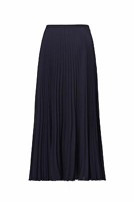 3dd153a6fc Vince Navy Blue Women's Size 2 Pleated Seamed A-Line Solid Skirt $265- #