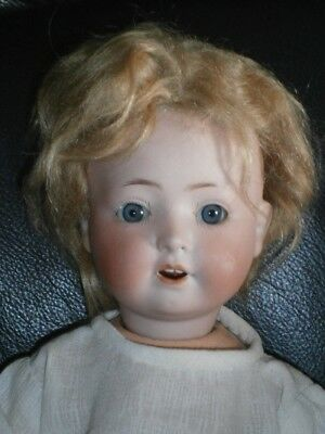 "12"" Antique Heubach Koppelsdorf 321 Germany Bisque Doll Rare Breather Nostrils"