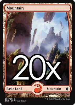 20 cards ZENDIKAR ZEN Magic MTG FULL ART Basic LAND Lots English complete set