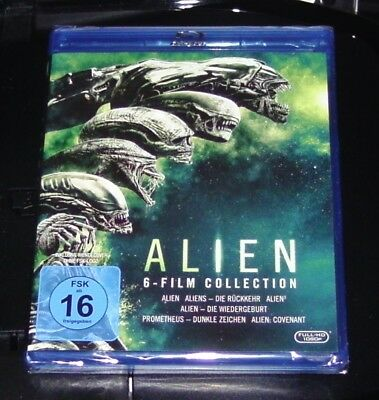 Alien 6 Film Collection y compris Prométhée / Alien Covenant Blu-Ray