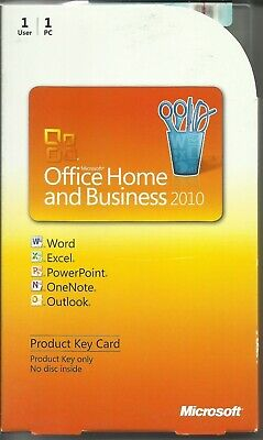 Microsoft Office 2010 Home And Business Pkc T5D-00295 (Used) 1Pc 100% Genuine