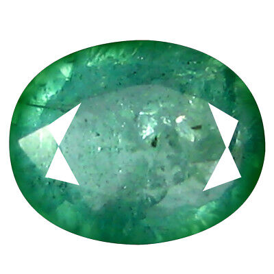 0.54 ct REMARKABLE OVAL CUT (7 x 5 mm) COLOMBIAN EMERALD NATURAL GEMSTONE