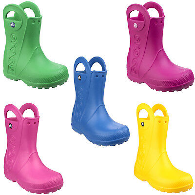 Crocs Handle It Botas de Agua Infantil Impermeable Croslite Niño Niña Botas