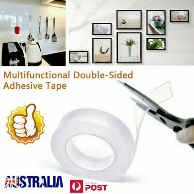 1/3/5M Multifunctional Double-Sided Traceless Washable Adhesive Tape 2019 New L3