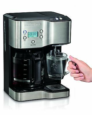 Hamilton SS-15 12-Cup Coffee Maker and Single-Serve Brewer, Stainless Steel !