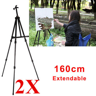 2PEICES Artist Folding Painting Easel Adjustable Tripod Display Stand W/ Bag