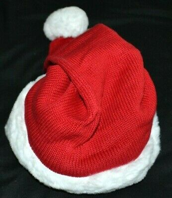 Gymboree Holiday Christmas Red SANTA Hat White Faux Fur 0 6 Months Boy Girl NWT
