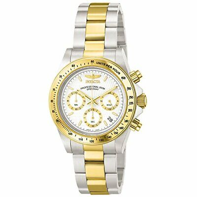 Invicta Men's Speedway Quartz Watch with Silver Dial Chronograph Display on Mult