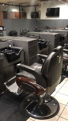 Used Salon Chairs >> Used High End Barber Stations Chairs Salon Chairs Stations Ped Chair Nail Table