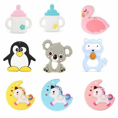 Baby Teether Silicone Pacifier Toys Teething Chew Soft Nipple Feeding Ring Child