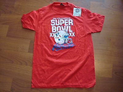 Super Bowl XX NEW ENGLAND PATRIOTS VINTAGE 80 S 1985 AFC Champs MEDIUM T- Shirt 2beaedea2
