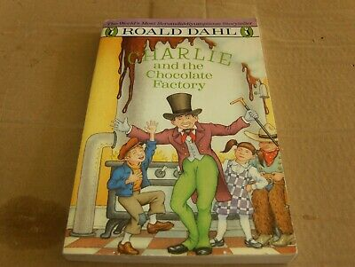 Charlie and the Chocolate Factory by Roald Dahl, Softcover Book,Good-Shape,1989.