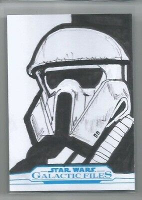 2018 Topps Star Wars Galactic Files Sketch Dave Holtz 1/1 Storm Trooper