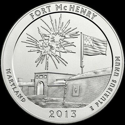 "2013 D Fort McHenry National Park Quarter Maryland ""Brilliant Uncirculated"" ATB"