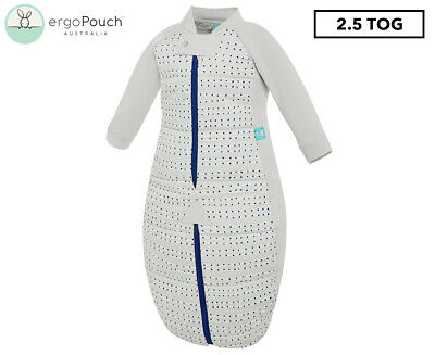 ergoPouch 2.5 Tog Organic Cotton Sleepsuit/Bag - Blue Dot