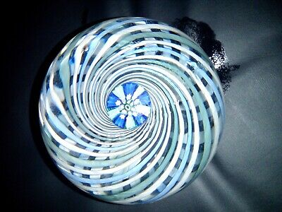 John Deacons Macdougall Glass Paperweight Spiral With Central Stars Cane In Vgc